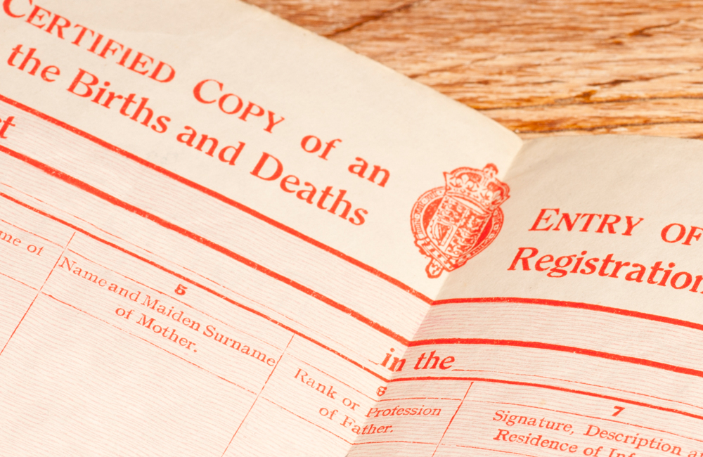 uk births deaths and marriages records